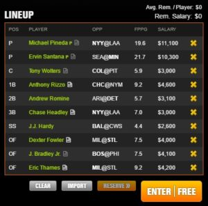 mlb draft kings 6-14-2017