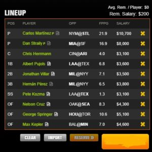 mlb draft kings 7-7-2017