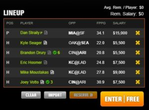 mlb draft kings arcade late 7-7-2017